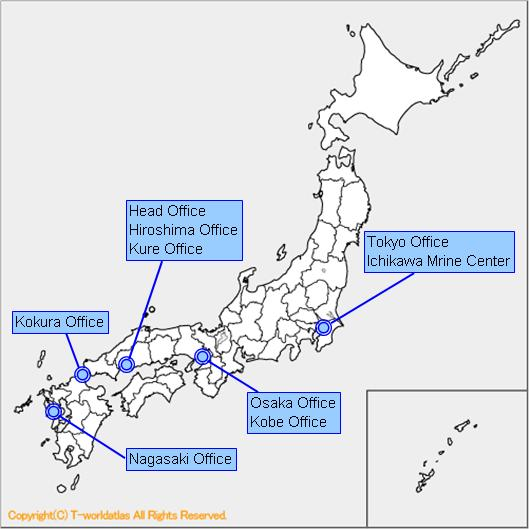 Kokura Japan Map.Kunitomi Co Ltd Head Office Home Page